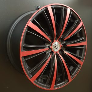 AW0052 17X7.5 BK RED SIDE