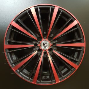 AW0052 17X7.5 BK RED FRONT